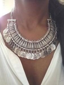 ezüst nyaklánc